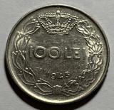 100 Lei 1943, Romania, varianta RIDURI, RARA!, Fier