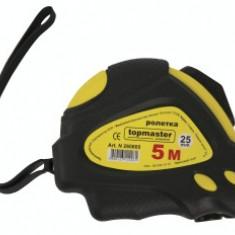 Ruleta dublu stop 8 m banda 25 mm MID Nylon Topmaster Profesional