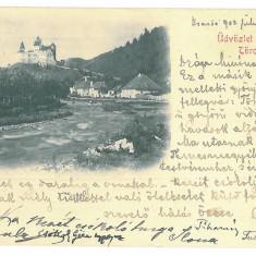 88 - BRAN, Brasov, Dracula Tower, Litho, Romania - old postcard - used - 1902