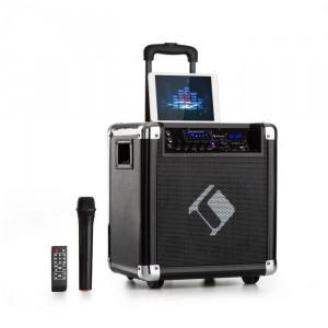 "Auna Moving 80, sistem PA, 8 "" woofer, 35/100 W max, microfon vhf, usb, sd, bt, aux, transferabil"