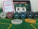 Trusa Poker 300 Jetoane Inscriptionate în Cutie Metalica. SIGILAT!