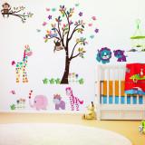 Autocolant gigant decorativ pentru copii Jungla roz