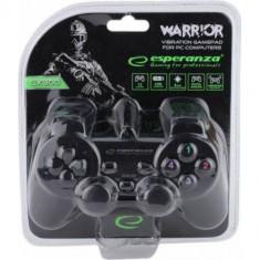 Gamepad cu vibratii pentru computere PC, Negru