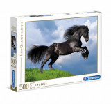 Puzzle High Quality Fresian cal negru, 500 piese, Clementoni