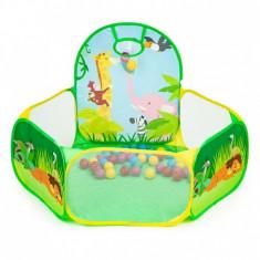Cort de joaca Jungla cu 50 de bile multicolore Ecotoys