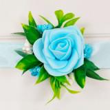 Cumpara ieftin Bratara trandafiri spuma bleo, pentru domnisoare de onoare/invitati, ARBC11010