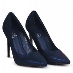 PDS106-44 Pantofi stiletto cu aspect matte