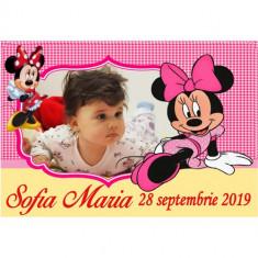 Marturii botez magneti Handmade by Diana Puiu Minnie Mouse MDFM 21