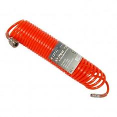 Furtun aer comprimat spiralat 7.5 m Troy T18607 5 mm