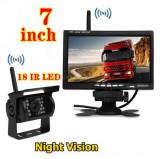 Cumpara ieftin Kit marsarier wireless cu camera si display de 7 12V 24V, K611W pentru Camioane, Autocare, Bus-uri