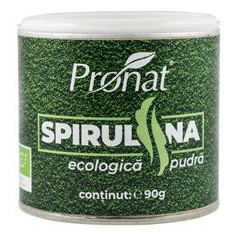 Spirulina Pulbere Bio 90gr Pronat Cod: PRN7948