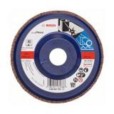 Disc evantai pentru slefuire Bosch, 125 x 22.23 mm, granulatie 80
