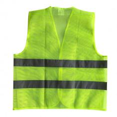 Vesta cu benzi reflectorizante, verde, EN471, marime XXL, tip mesh