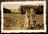 P.064 FOTOGRAFIE RAZBOI WWII SERBIEN SERBIA GENERAL NAZIST PANZER RASTURNAT