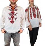 Cumpara ieftin Set Traditional Cuplu 100 Camasi traditionale cu broderie