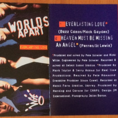 WORLDS APART - Everlasting Love   ( 1993 ) - Caseta Audio Originala  ( ARISTA )