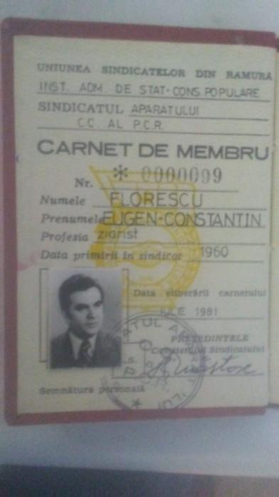 carnet membru PCR fost senator