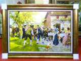Tablou pictat manual pe panza in ulei Peisaj Natura A-423, Realism