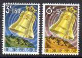 BELGIA 1963, Clopote, CATEDRALA KOEKELBERG, serie neuzata, MNH, Religie, Nestampilat