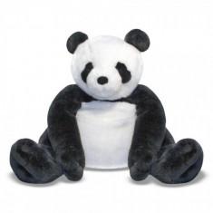 Urs Panda din plus, 71 cm, Negru/Alb, Melissa & Doug