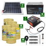 Pachet Gard electric 5J putere plus 5000m de fir si Panou Solar