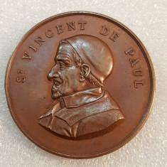 FRANTA 1888-MEDALIA ST VINCENT DE PAUL-EXPOZITIA INDUSTRIALA-50 MILIMETRI