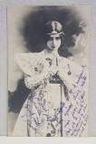 TANARA IN COSTUM ORIENTAL , CARTE POSTALA ILUSTRATA , DESTINATAR ELIZA XENOPOL * , CIRCULATA , CLASICA , DATATA 1903