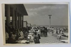 MAMAIA - VEDERE DE PE TERASA UNI RESTAURANT , CARTE POSTALA ILUSTRATA , MONOCROMA , NECIRCULATA , PERIOADA INTERBELICA foto