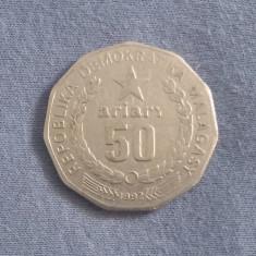 Monedă 50 Ariary Madagascar