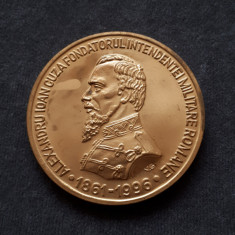 Medalie Al. I . Cuza - Fondatorul intendentei militare romane