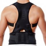 Ham - Corset magnetic pt indreptare spate si coloana vertebrala negru