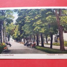 Carte postala veche BAILE COVASNA Promenada ×  1939 fara timbru
