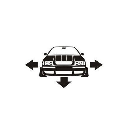 Stickere auto Skoda low fata