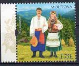 MOLDOVA 2019, Costume populare, serie neuzata, MNH