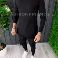 Bluza fashion barbati neagra - COLECTIE NOUA A6857