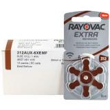 Baterii Rayovac 312 pentru aparate auditive , 60 baterii / set