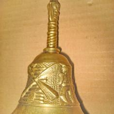 A558-Clopot de chemat servitoarea, etc. in bronz masiv stare buna.