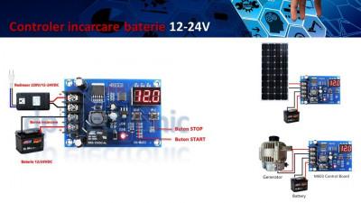 Controler incarcare baterie 12 / 24V DC foto