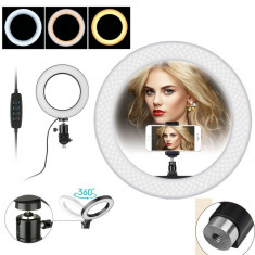 Lampa Profesionala LED Circulara Cosmetica Make-UP Studio Foto Selfie