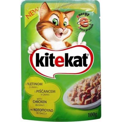 Hrana umeda pentru pisici, Kitekat, cu Pui, 100 g foto