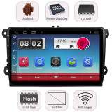 "Unitate Multimedia Auto 2DIN cu Navigatie GPS, Touchscreen HD 9"" Inch, Android, Wi-Fi, BT, USB, Volkswagen VW Tiguan 2007+"