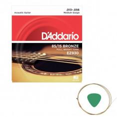 Set corzi chitara acustica D addario EZ930 si pana cu coarda