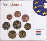 Olanda Set 8 - 1, 2, 5, 10, 20, 50 euro cent, 1, 2 euro 2001 - UNC !!!