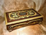 Cutie bijuterii muzicala, intarsie Venetiana, colectie, cadou, vintage