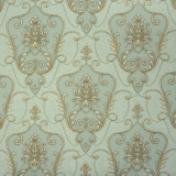Tapet clasic, albastru, auriu, dormitor, vinil, lavabil, PL71509-67