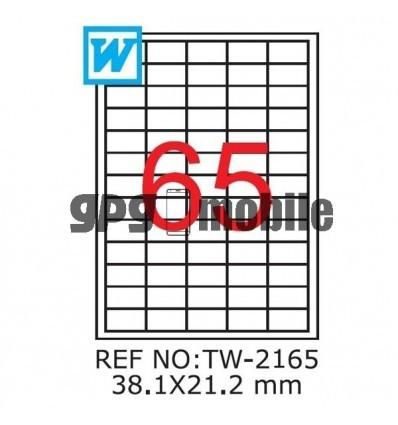 Etichete A4 TW 2165 , 38,1 x 21,2mm