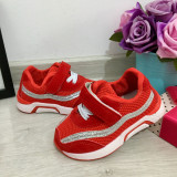 Cumpara ieftin Adidasi rosii cu scai si sclipici pt fetite 21 22 23 24 25, Fete