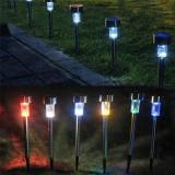 Lampa Solara, cu sprijin din otel inoxidabil, Aer Liber, LED, gradina, Lampa peluza
