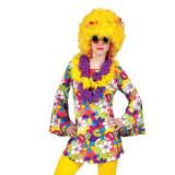 Rochie inflorata Hippie cu maneci lung, adulti, multicolora