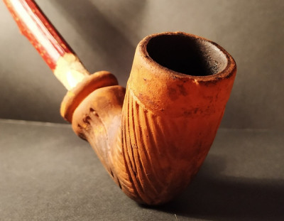 Veche Pipa din ceramica Secolul XIX Lulea Traditionala foto